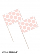 Toothpick flags Coral Dots