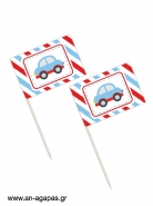 Toothpick flags Little Cars