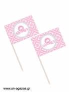 Toothpick flags Princess Carriage