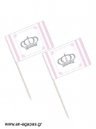 Toothpick flags Stripy Crown Girl
