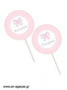 Cupcake toppers Baby Bow