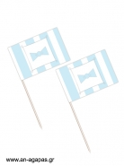 Toothpick flags Blue Dots & Stripes
