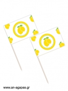 Toothpick flags Lemon Checks