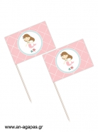 Toothpick flags Sea Girl