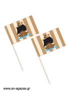 Toothpick flags Pirate Ship