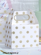 Party Box Gold Polka Dot