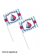 Toothpick flags Sail Away