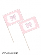 Toothpick flags Baby Bow