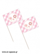 Toothpick flags Spring Blossom