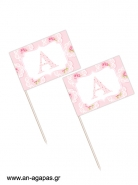 Toothpick flags Vintage Roses