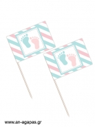 Toothpick flags Happy Feet
