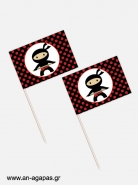 Toothpick flags Ninja Boys