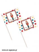Toothpick Flags Nutcracker