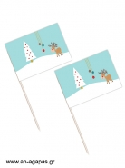 Toothpick Flags Merry Wishes