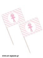 Toothpick Flags Ballet Princess