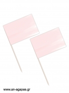 Toothpick flags Pink Sky