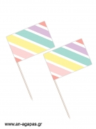 Toothpick flags Rainbow
