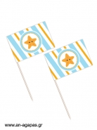 Toothpick flags Little Starfish