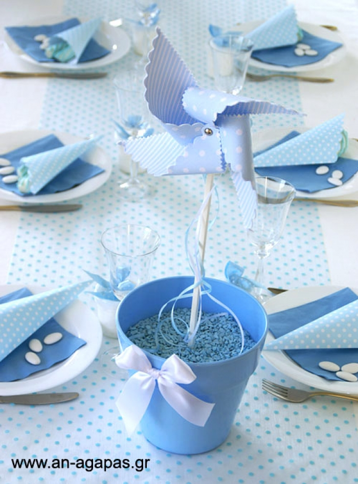 Table Centerpiece Decoration Windmill Stripedspotted